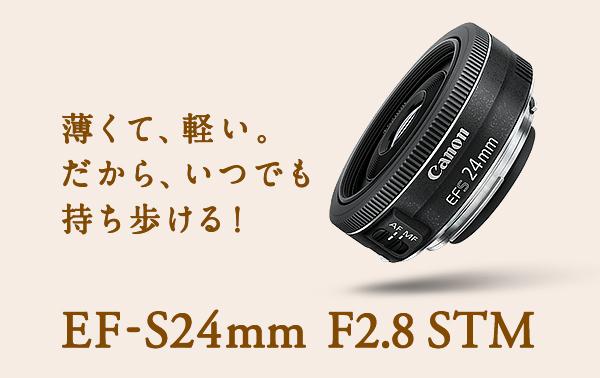キヤノン 交換用レンズ EF-S24mm F2.8 STM