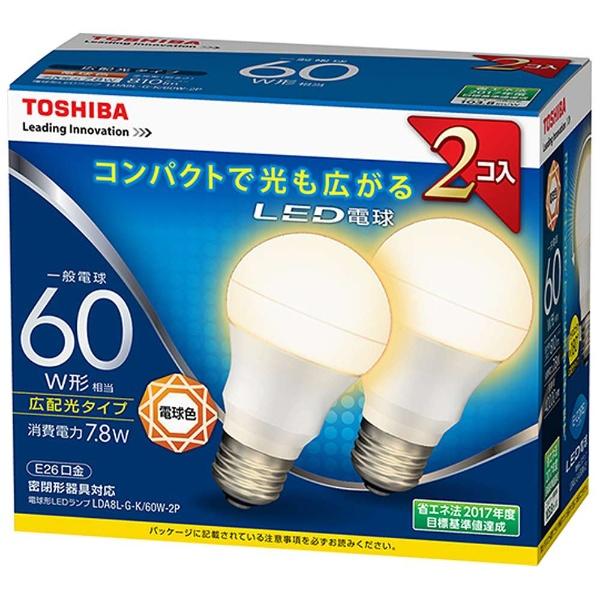 E-CORE LDA8L-G-K/60W-2P [電球色]