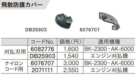 DB25903 刈払刃用飛散防護カバー